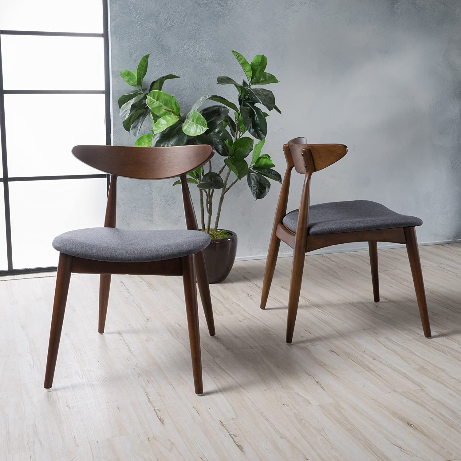 Christopher Knight Home Barron Dining Chair Set of 2 , CHARCOAL