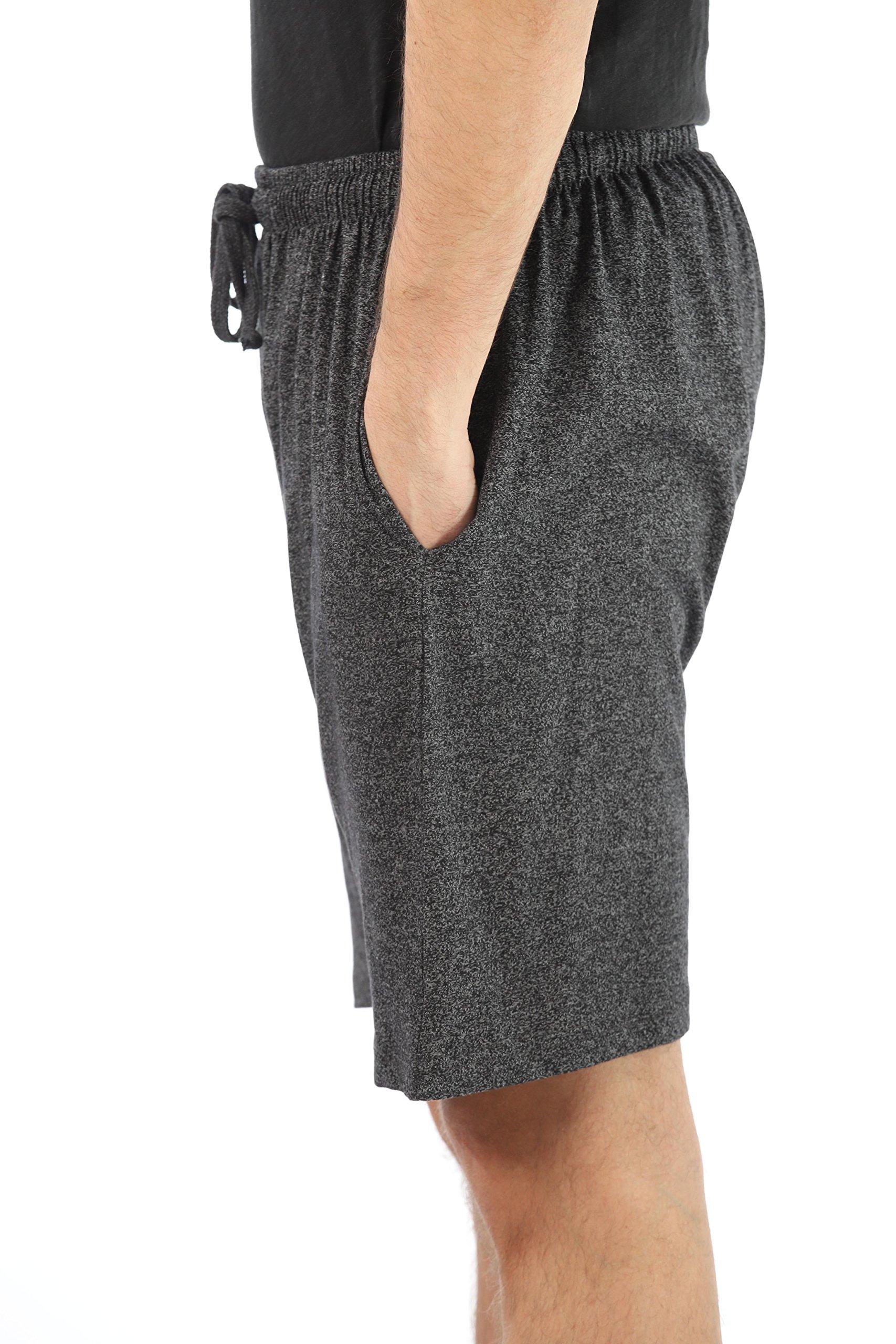 At The Buzzer Men's Pajama Shorts Sleepwear PJS 14504-BLK-L by At The Buzzer (Image #2)