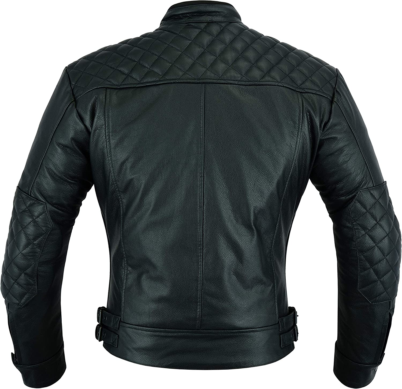M Dresser Real Leather Motorbike Protection Fashion Jacket Black