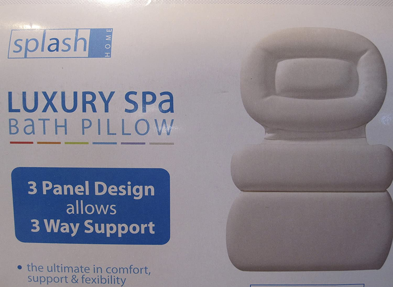 Luxury Spa Bath Pillow Full Size 3 Panel 21 L x 15 W x 1.5 D