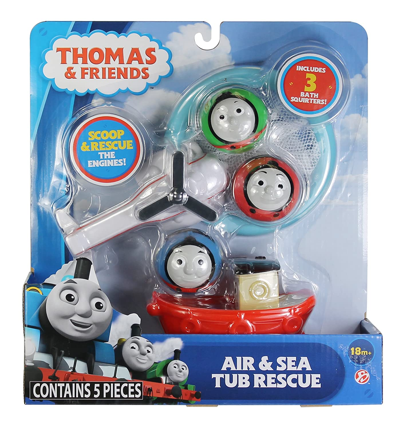 Amazon.com: Basic Fun Thomas & Friends Air & Sea Rescue Bathtub-Toys ...