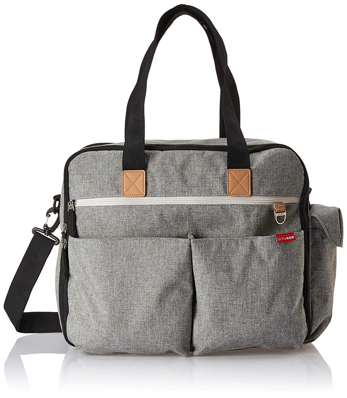 Symbol Of The Brand Skip Hop Duo Signature Changing Bag Chevron grey Baby