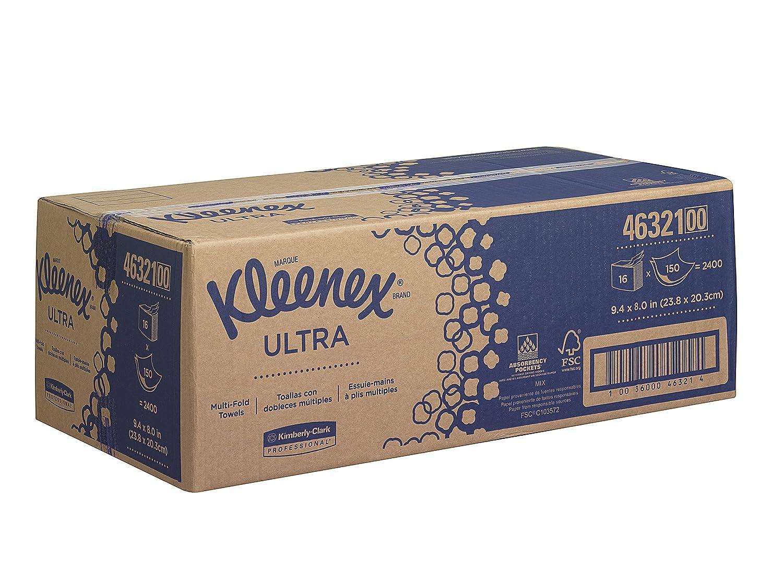 15 Paquetes X 186 con 2 Capas Blanco Kleenex 6789 Secamanos Interplegadas