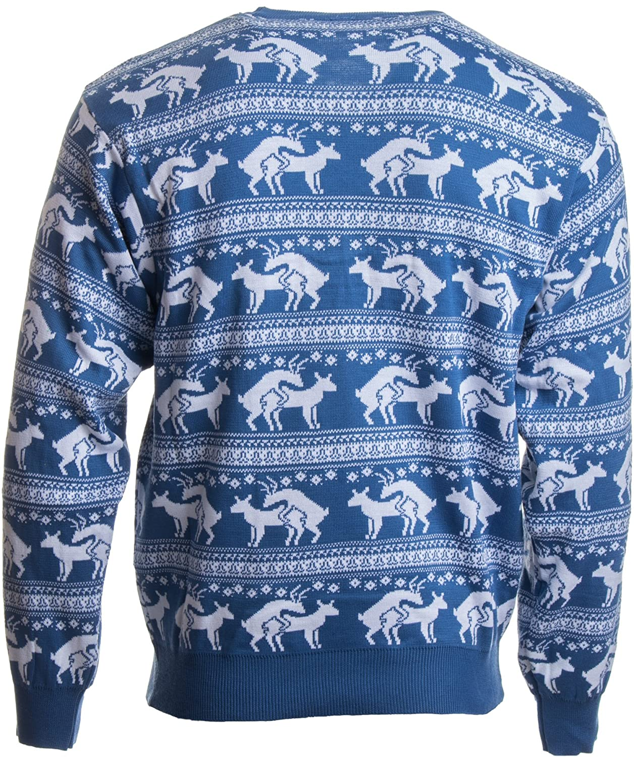 Amazon.com: Ann Arbor T-shirt Co. Reindeer Humping Ugly Christmas Sweater  w/Holiday Insertion & Christmas Dongs: Clothing