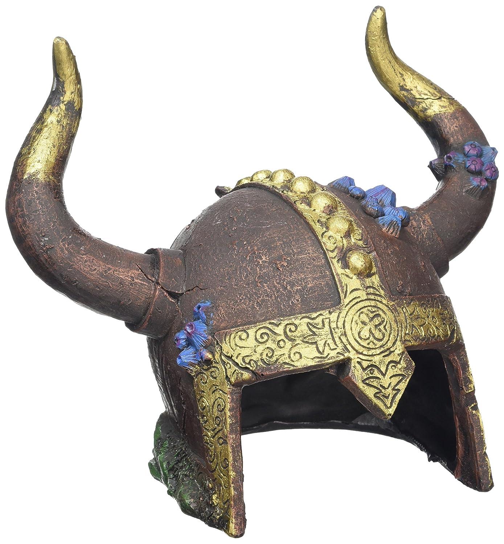 Dragon fish tank ornament - Rosewood Viking Helmet Cave Aquarium Ornament
