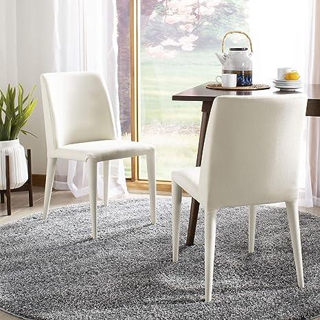 Safavieh Home Collection Garretson Beige Linen 34.4-inch Side Chair (Set of 2)