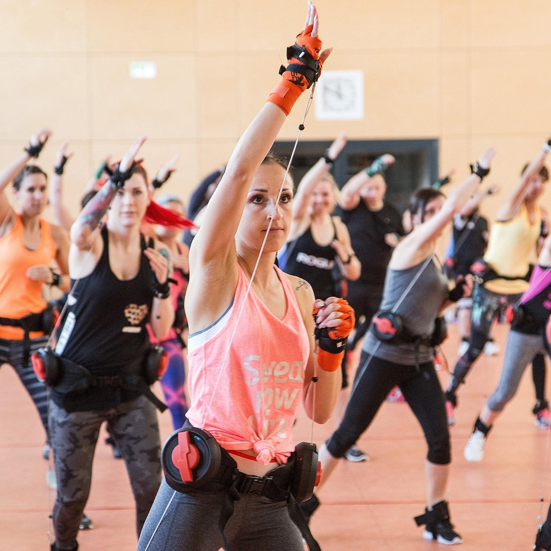 POWRX XBT Fitnessg/ürtel Trainingsger/ät f/ür Ausdauer Schnelligkeit Kraft im Kampfsport Functional Training Fitnesskurs
