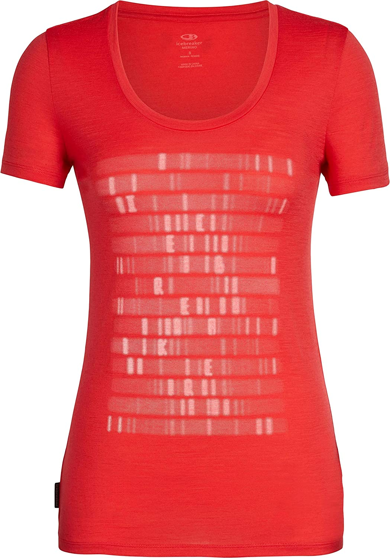 T-Shirt Donna Ice Breaker Wmns Tech Lite SS Scoop Sequence