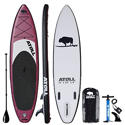 Amazon.com   Atoll 11  Foot Inflatable Stand Up Paddle Board (6 ... 81eb89a63