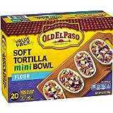 Old El Paso Soft Taco Boats, Mini Flour Tortilla Bowls, 20 ct, 8.5 oz