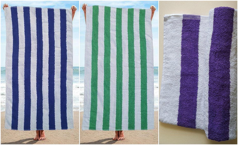 Toallas de piscina 100% algodón egipcio a rayas para vacaciones ...