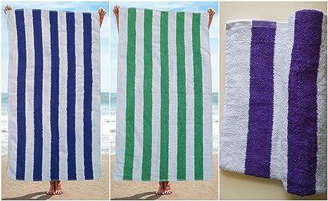 Toallas de piscina 100% algodón egipcio a rayas para vacaciones playa y gimnasio, calidad
