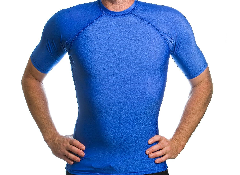 Beach Depot Men/'s Short Sleeve Snug Fitting Rash Guard Made in USA Swimming Shirt UV Protection 50+