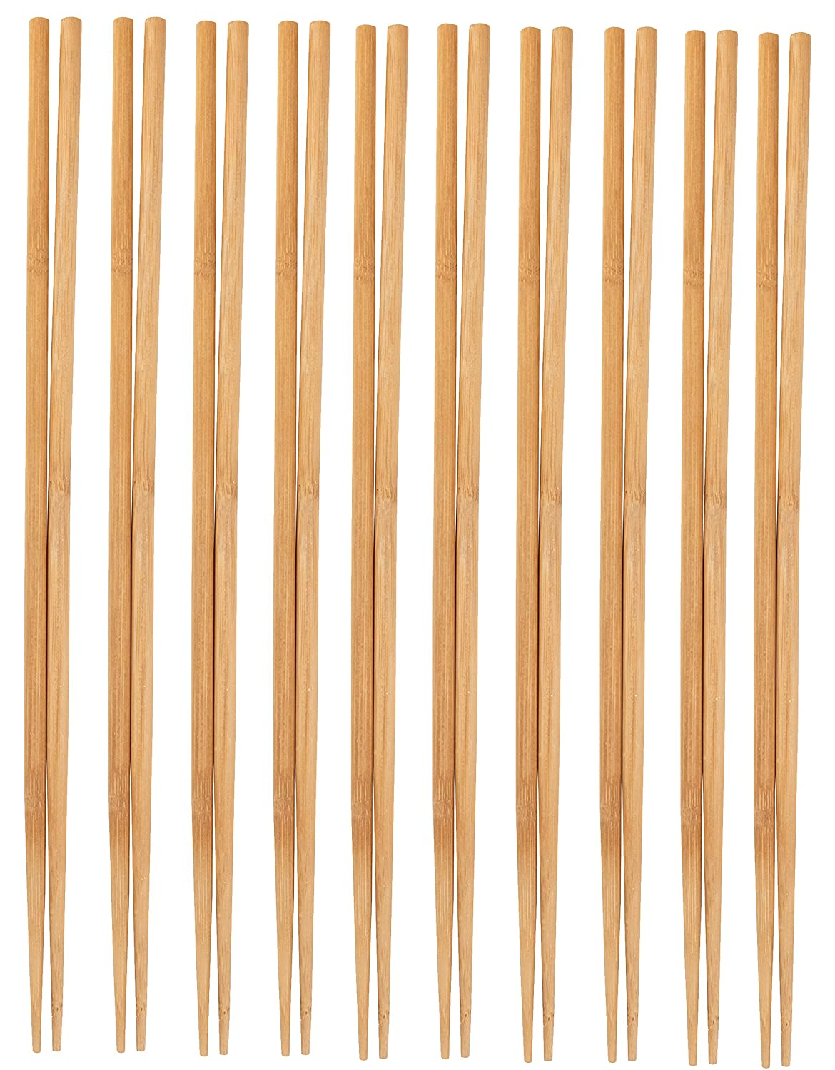 Cooking Chopsticks - 10-Pack Extra Long Cooking Chopsticks, For Cooking, Frying, Hot Pot, Noodles in Chinese and Japanese Style, Natural Bamboo, 16.5 Inches Juvale
