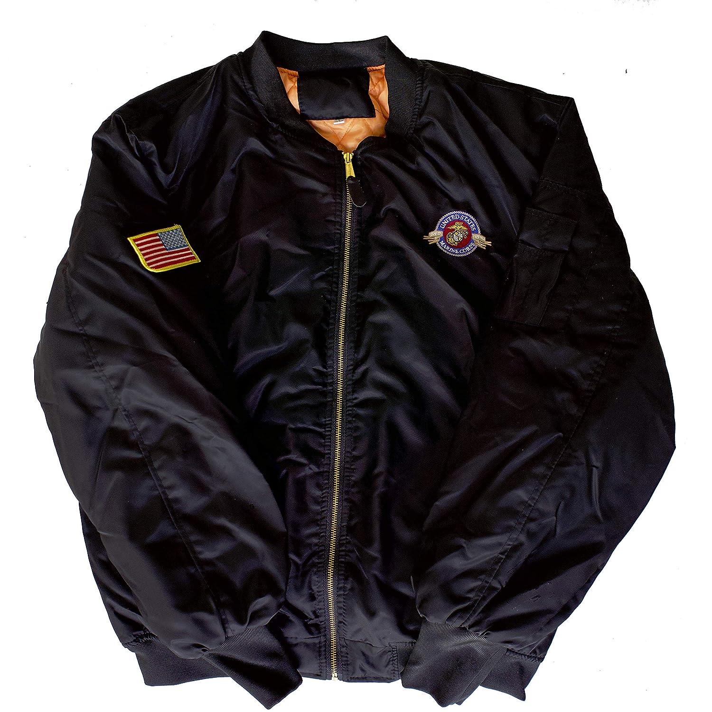 Marine Veteran EST 1775 Semper Fidelis MA-1 Flight Embroidered Bomber Jacket