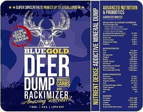 Amazon.com: Bomba de ciervo azul dorado estantería ...