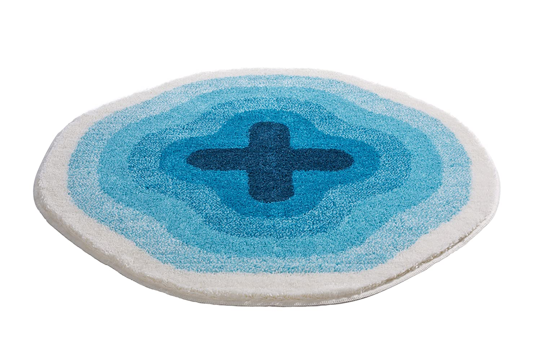 50x65 cm Azul Turquesa Acr/ílico Grund Karim 13 Alfombra de Ba/ño
