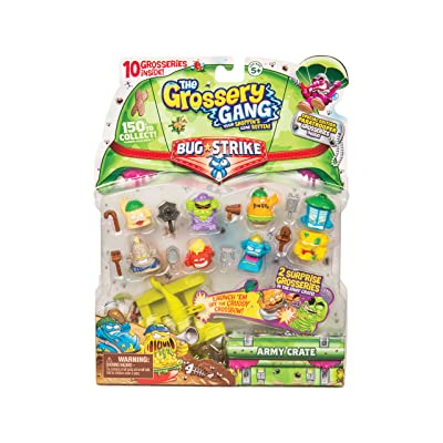 Grossery Gang 10 Pack & Crossbow Series 4 - Bug Strike: Toys & Games