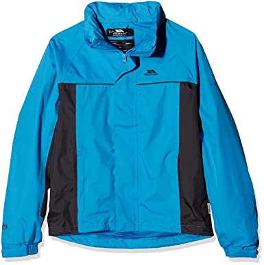 a205376cb4e7 Trespass Mooki, Cobalt, 2/3, Waterproof Jacket with Concealable Hood for  Kids