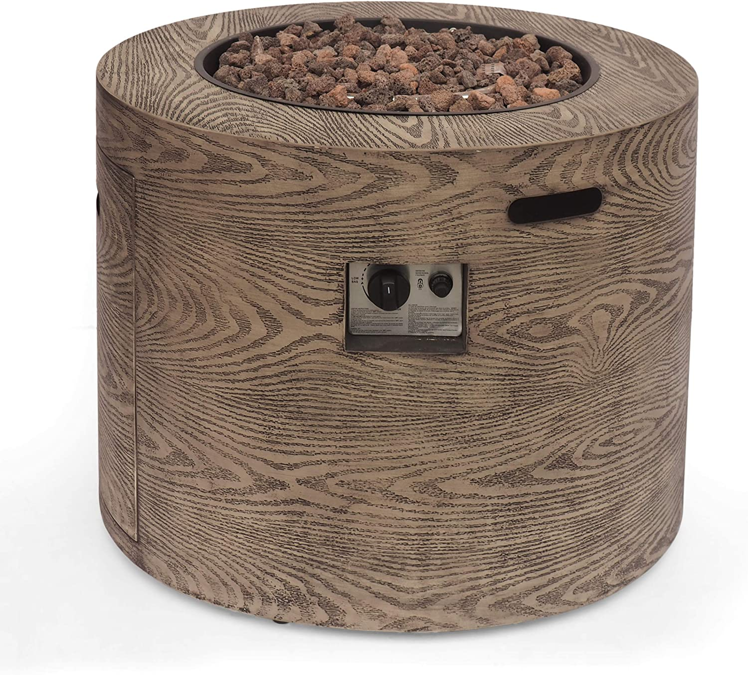 Christopher Knight Home 314046 Senoia Outdoor FIRE Pit, Wood Pattern Brown