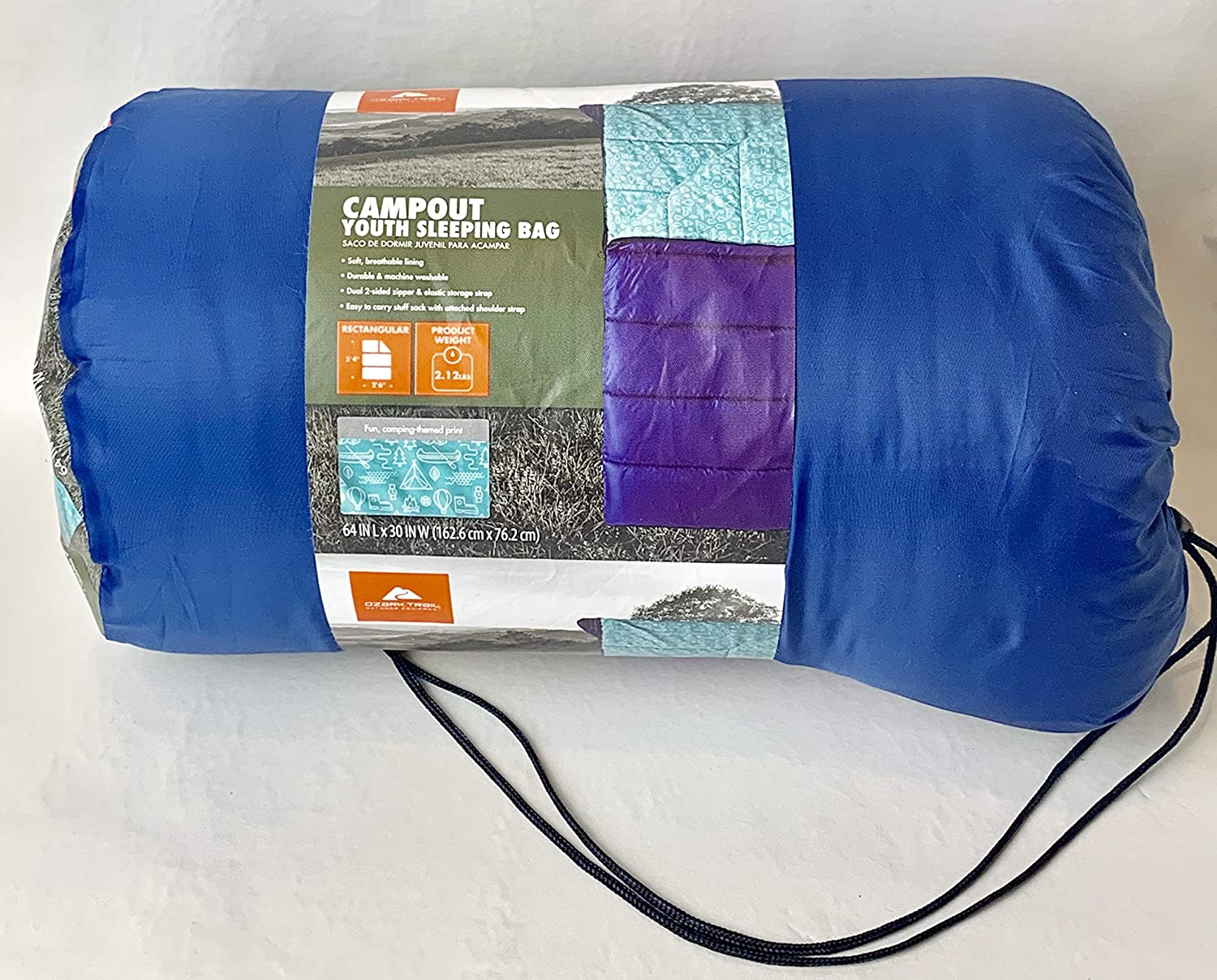 Amazon.com : OZARK-Trail Youth Sleeping Bag Camping Indoor Outoor Traveling - campout Design : Sports & Outdoors