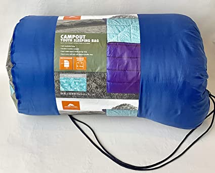 OZARK-Trail Youth Sleeping Bag Camping Indoor Outoor Traveling - campout Design