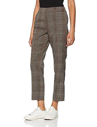 dcdd82dde71d9c Vero Moda Women's Vmvilian Nw Ancle Pants D2-6 Trouser, Grey (Dark Melange