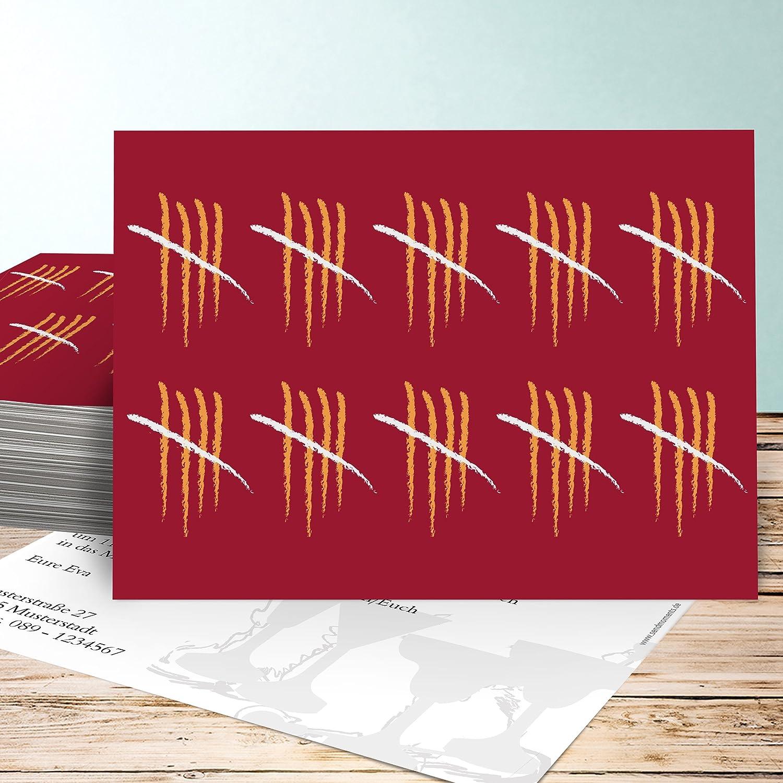 Einladungskarten 445 Geburtstag Lustig, Strichliste 445 45 Karten ... - Cars Einladungskarten Zum Ausdrucken