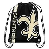 NFL New Orleans Saints Big Logo Drawstring Backpack