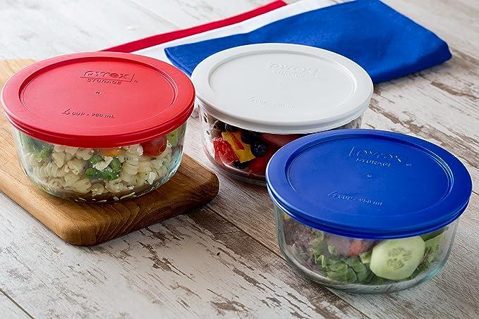 93031cb0749 Amazon.com: Pyrex Simply Store Round Glass Food Storage Dish , Set of 4:  Kitchen & Dining