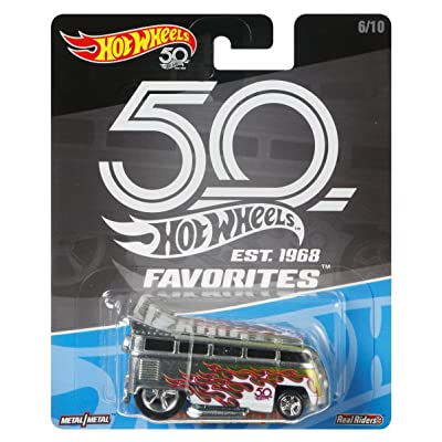 Hot Wheels 50th Anniversary Favs Volkswagen T1 Drag Bus: Toys & Games
