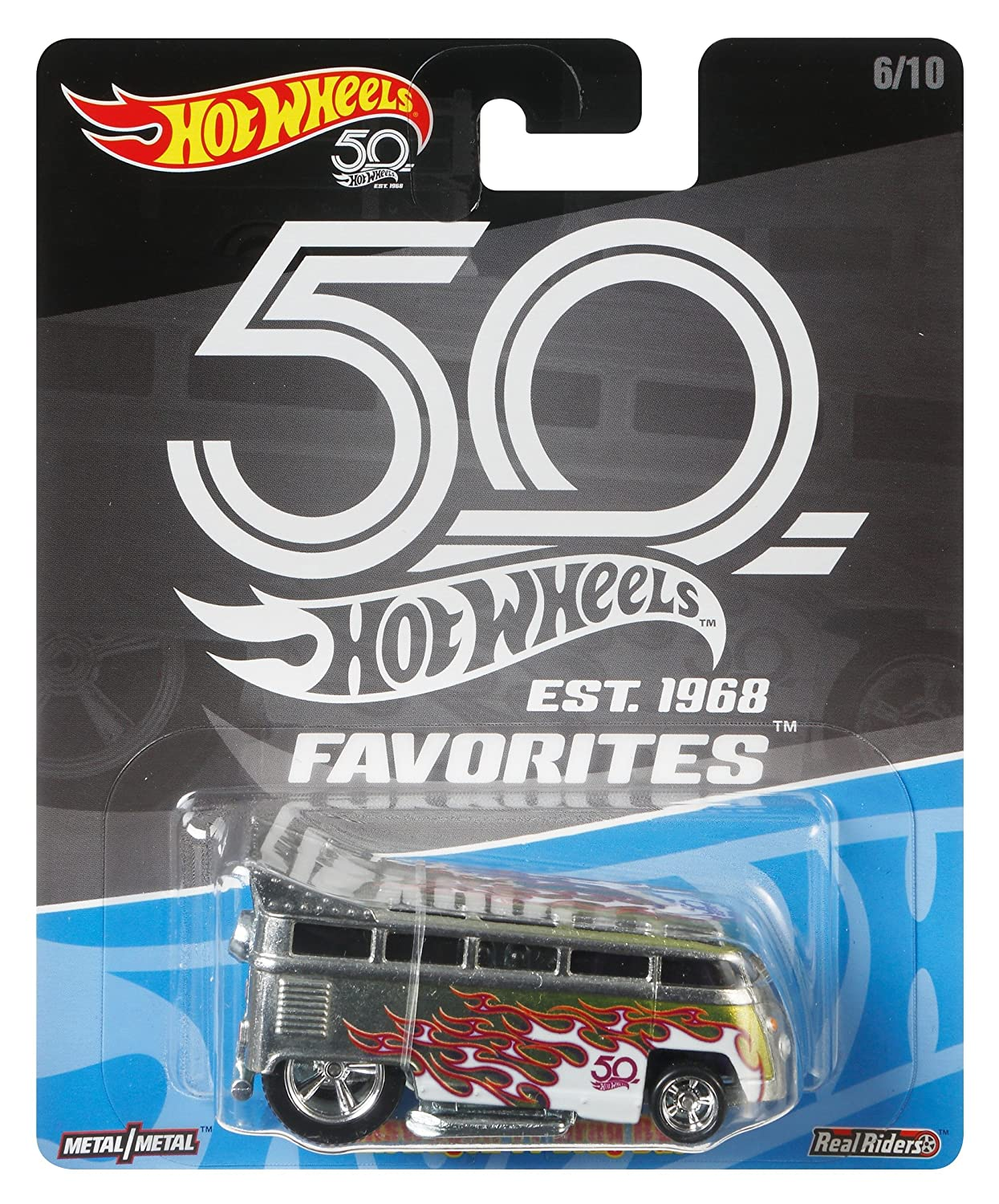 Hot Wheels 50th Anniversary Favs Volkswagen T1 Drag Bus Mattel FLF41