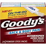 Goody's Back & Body Pain Relief Powders | Caffeine Free | 24 Count