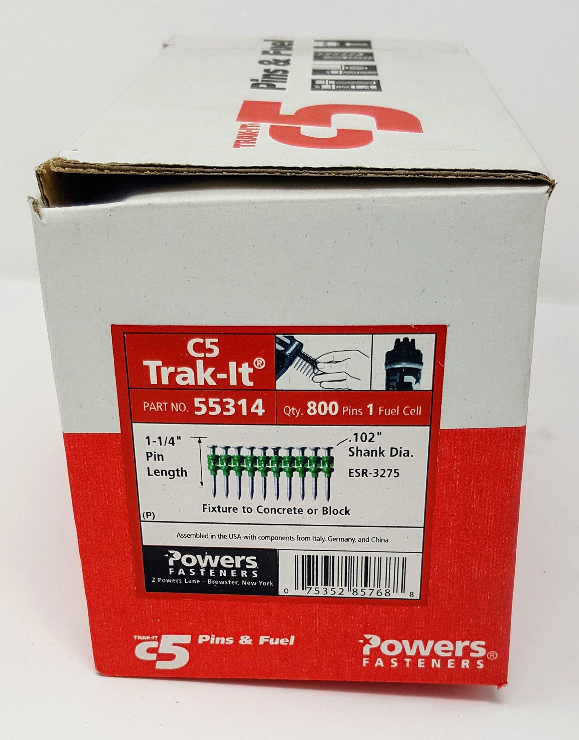 Powers C5 Pin ST .102 x 1-1/4 ZP (800 Each) 55314