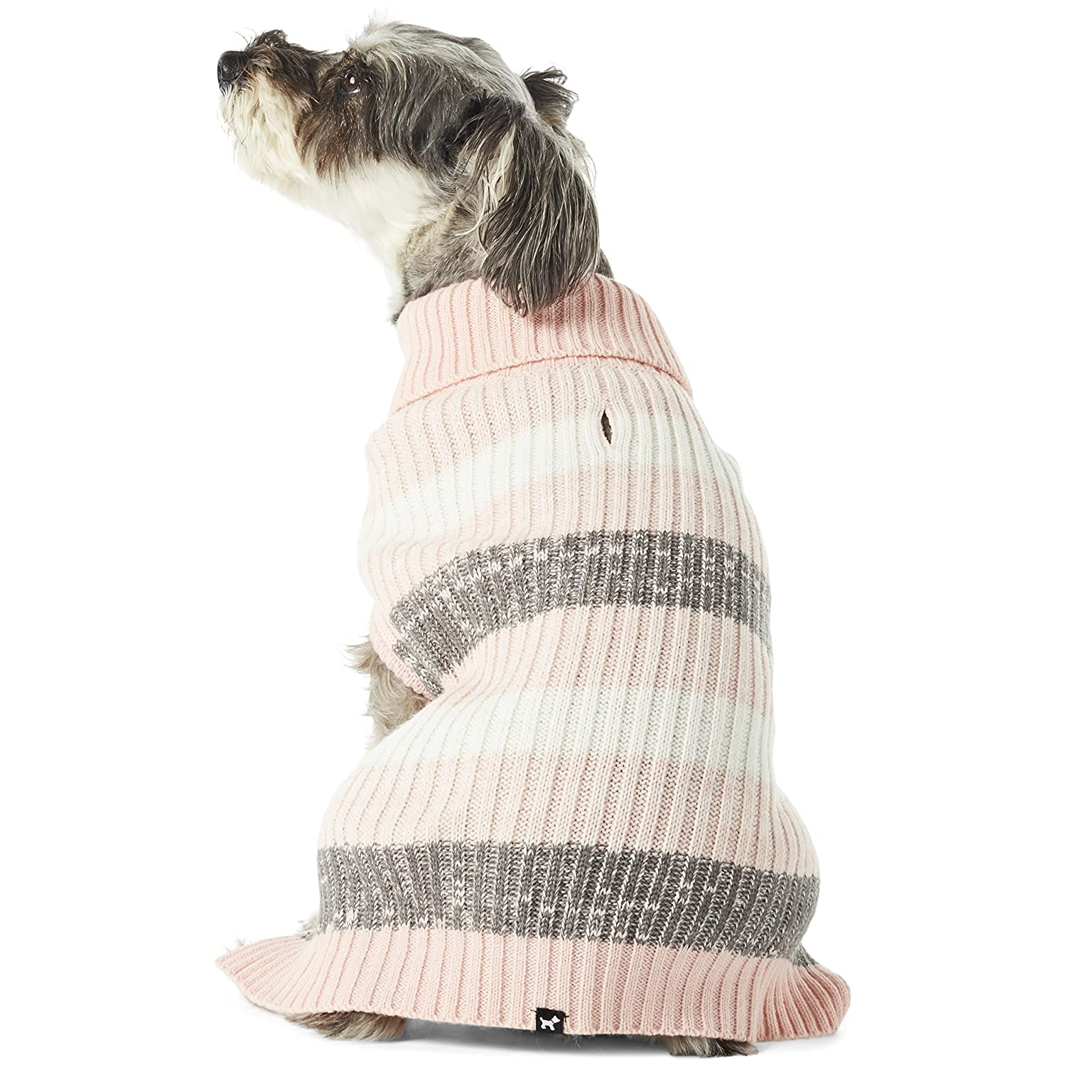 Crystal pink XS Crystal pink XS Hotel Doggy Gradient Striped Turtleneck Sweater Crystal pink XS