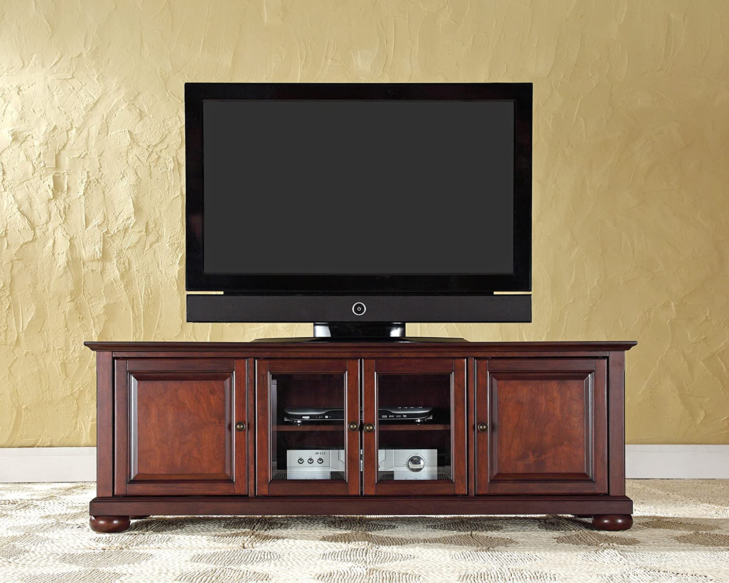 Marvelous Flatscreen TV Stands Crosley Furniture Alexandria 60 Inch Low Profile With  TV View