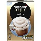 NESCAFÉ Gold Latte Coffee, 8 Sachets, 19.5 g (Pack of 6)