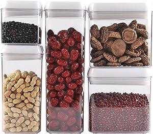 Scotty's (TM) Airtight Food Storage Container Set (1, 5 Piece Set - 0.5 L, 1.2 L, 1.5 L (x2), 1.9 L)