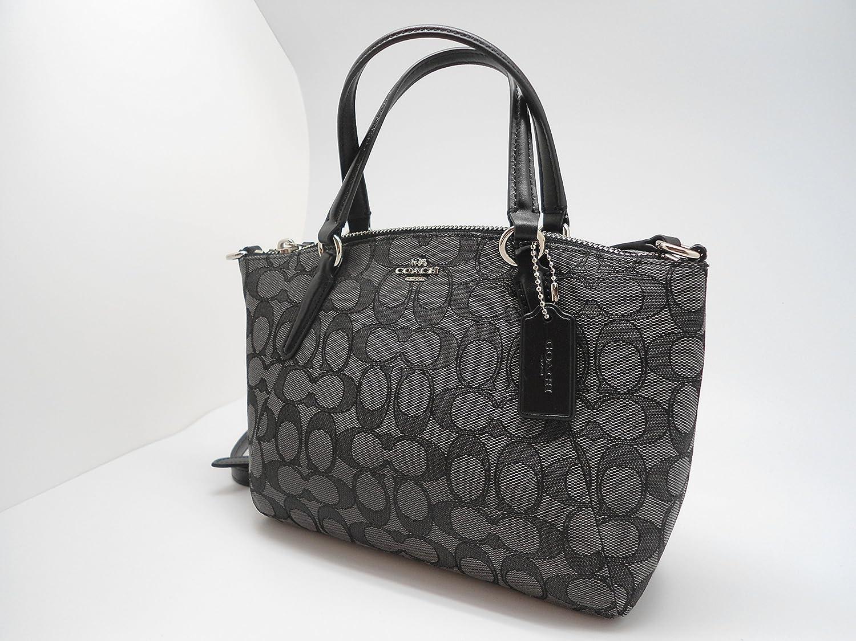 3bacf7d6ca39 Coach F57830 Outline Signature Mini Kelsey Crossbody Satchel Bag Black Smoke    Black  Handbags  Amazon.com