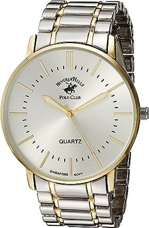 Us Beverly Hills Polo Club Reloj Analógico De Cuarzo Con Correa De Aleación Dos Tonos 22 Modelo 53318 Watches