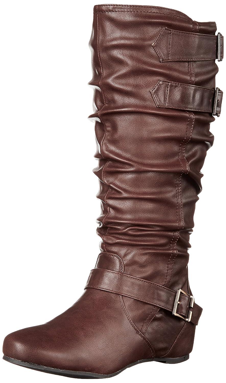 Brinley Co Women's Cammie-wc Slouch Boot B018GWKWYW 8.5 B(M) US|Brown Wide Calf