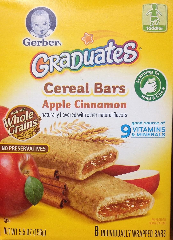 Gerber Graduates Cereal Bars APPLE CINNAMON - 5.5oz. (Pack of 4)