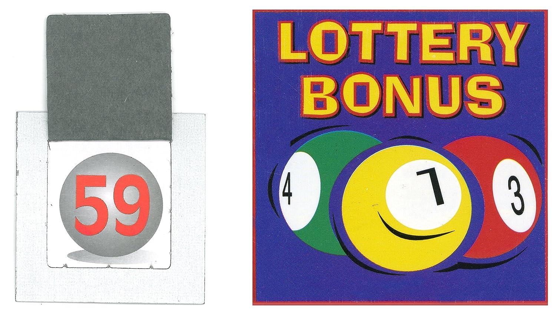 10 Sets of Lottery Bonus Ball Tickets 1-59 Bingo House