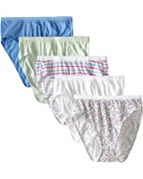 Fruit Of The Loom Womens 5 Pack Fit for Me Cotton Hi Cut Brief