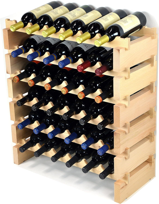Wine Rack Wood 36 Bottles Modular Hardwood Wine Racks 6 Bottles X 6 Shelves Wine Cellar Accessories Kitchen Dining