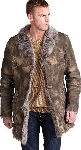 Amazon.com: Jackson Toscana - Abrigo de piel de oveja, XXXL ...
