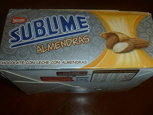 Amazon.com : Sublime Cholcolate Con Leche Con Almendras : Grocery & Gourmet Food