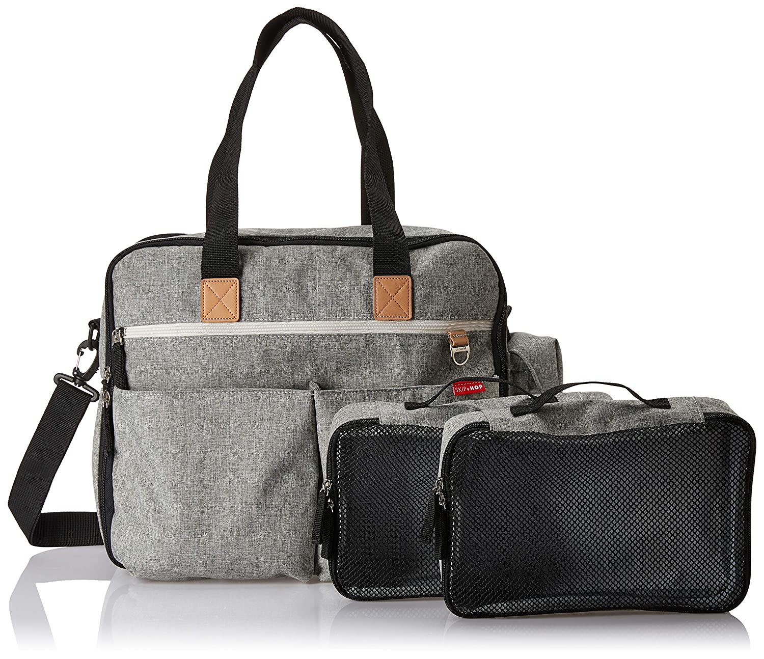 Grey Melange Skip Hop Duo Signature Weekender Changing Bag