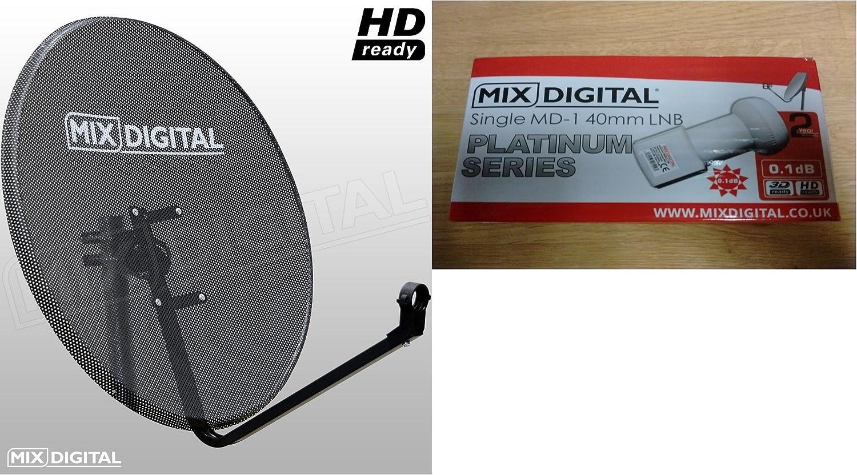 Antena parabólica de malla digital de 60 cm con un solo MD-1 ...