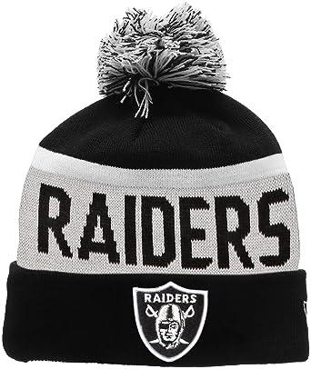 buy popular 84b0d b6536 ... italy new era mens team jake oakland raiders bobble knit beanie black  black 458b6 17d03